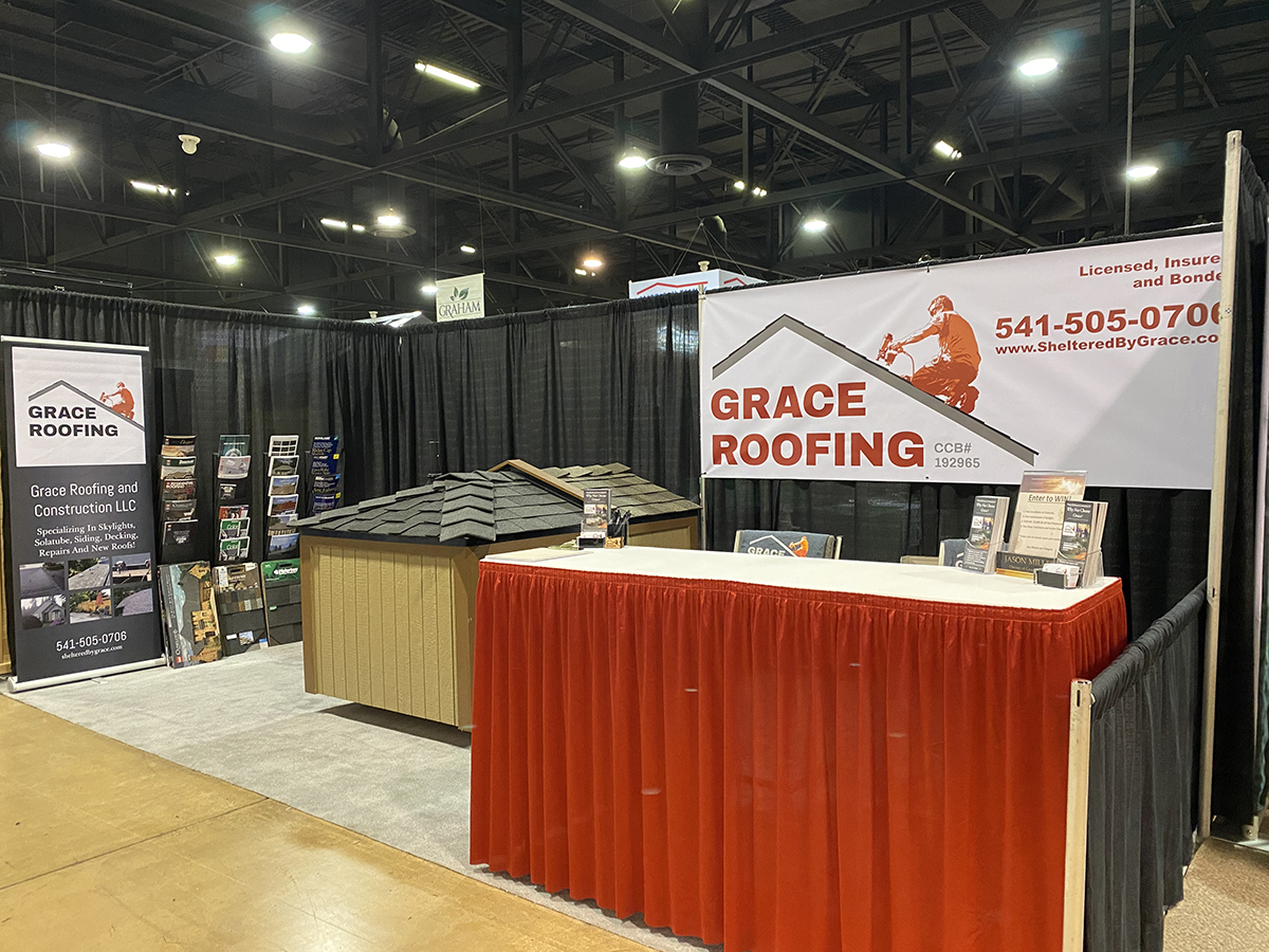 Grace Roofing Booth At A Convention