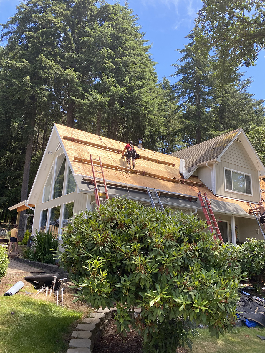 Intial Phase Of Roofing